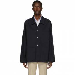 Maison Margiela Navy Pinstripe Jacket S50AM0445 S52645