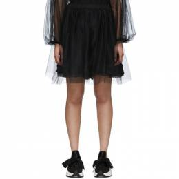 Mm6 Maison Margiela Black Tulle Skirt S62MU0026 S23588