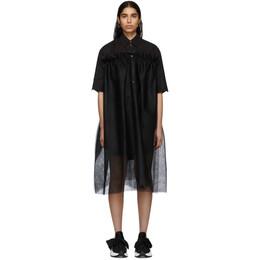 Mm6 Maison Margiela Black Tulle Dress S62CT0087 S47294