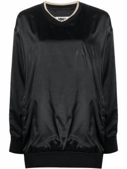 Mm6 Maison Margiela tonal logo shiny sweatshirt S52GU0105S52525