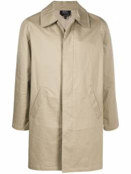 A.P.C. single-breasted fitted coat COEBSH01409