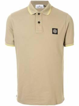 Stone Island рубашка-поло с нашивкой-логотипом 101522S18