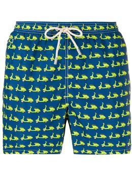 Mc2 Saint Barth vespa print swimming trunks LIGHTINGMICROFANTASY