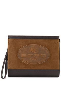 Etro клатч с тисненым логотипом 1I2777610