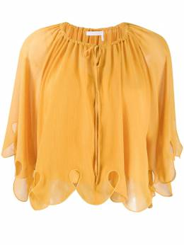 See By Chloe scalloped tied-neck blouse CHS20UHT04025