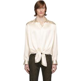 Saint Laurent Off-White Silk Plombant Shirt 611557Y754S