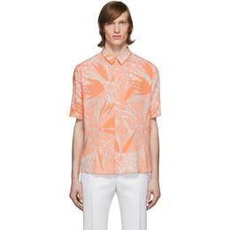 Saint Laurent Orange and Taupe Jungle Shirt 601070Y2A27