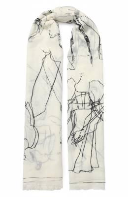 Шерстяной шарф Alexander McQueen 621493/3200Q