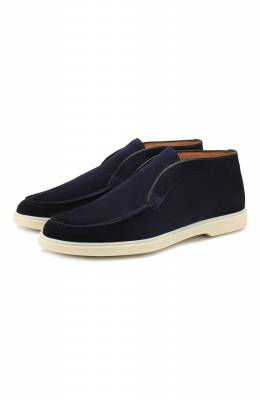 Замшевые ботинки Santoni MGYA16715TICEPMSU60
