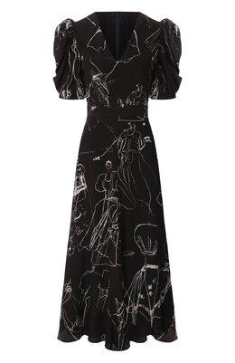 Шелковое платье Alexander McQueen 620654/QDAAP