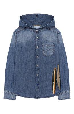 Джинсовая рубашка с капюшоном Jacob Cohen J8009 T-01008-W3