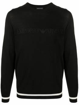 Emporio Armani свитер с вышитым логотипом 3H1MX61MKUZ