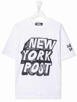 Jeremy Scott Junior TEEN logo print T-shirt J5M010TEENLBA00