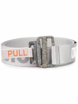Heron Preston logo print tag belt HWRB010R2062003005C1