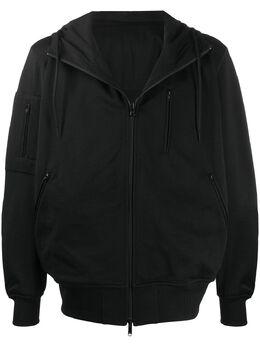 Y-3 oversized zip up hooded jacket FN3490BLACKNOIR