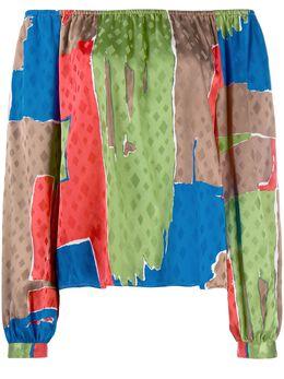 Tory Burch silk colour blocked blouse 73951
