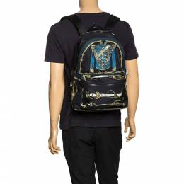 Dolce&Gabbana Black Nylon Knight Uniform Backpack 274701