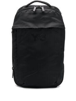 Y-3 logo print multi-pocket backpack FQ6986