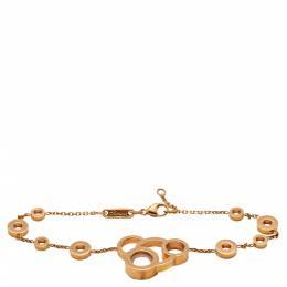 Chopard Happy Diamond Rose Gold Bubble Bracelet Size 19CM 275200