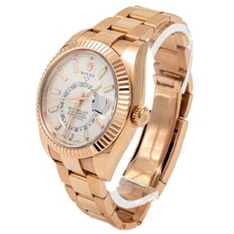 Rolex White Dial Sky-Dweller Rose Gold 326935 Men's Watch 42MM 275350