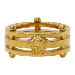 Versace SSENSE Exclusive Gold Medusa Greek Ring DG58012 DJMT