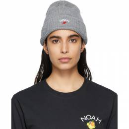 Noah Nyc Grey Wing Foot Beanie H2SS20HGY