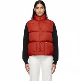 Noah Nyc Red Cashball Down Puffer Vest J11SS20RED