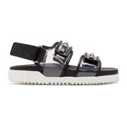Valentino Black and Transparent Valentino Garavani Rockstud Sandals TW2S0V85FLM