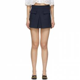 Red Valentino Blue Front Skirt Shorts TR0RFC704YK