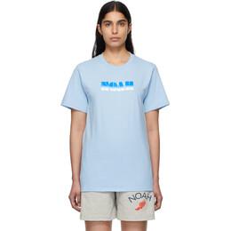 Noah Nyc Blue Gradient Logo T-Shirt T1SS20LBL