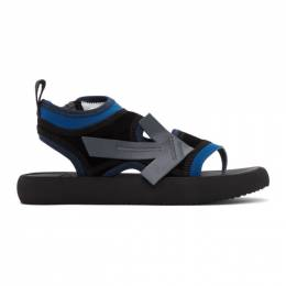 Off-White Black and Blue Surf Sandals OWIA206R20H631111008