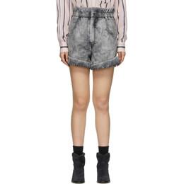 Isabel Marant Etoile Black Denim Itea Shorts 20PSH0314-20P022E