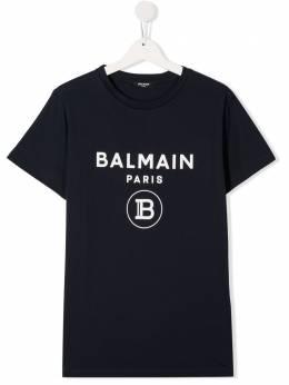 Balmain Kids футболка с логотипом 6M8701MX030