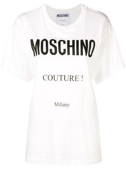 Moschino printed logo T-shirt J07025540