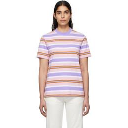 Noah Nyc Pink Surf Stripe T-Shirt KN19SS20PKC