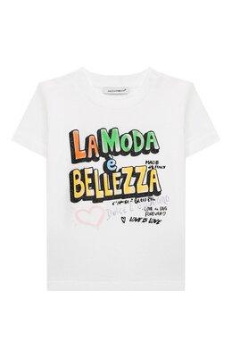 Хлопковая футболка Dolce&Gabbana L2JTAZ/G7WCQ