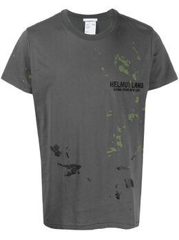 Helmut Lang футболка с абстрактным принтом K01DM508