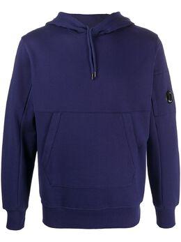 C.P. Company худи с карманом-муфтой и логотипом 08CMSS032A005160W