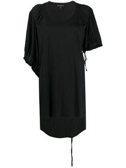 Ann Demeulemeester футболка оверсайз с контрастными рукавами 20012416P228