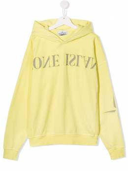 Stone Island Junior reverse logo hooded sweatshirt MO721661140
