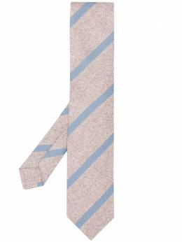 Kiton knitted striped pattern tie C03G5307