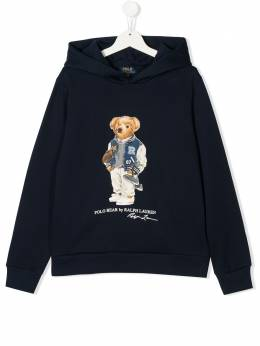 Ralph Lauren Kids long sleeve polo bear hoodie 323800660