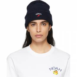 Noah Nyc Navy Wing Foot Beanie H2SS20NVY