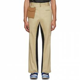 Palm Angels Beige and Black Pocket Trousers PMCA063S207750454802