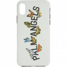 Palm Angels White Butterfly College iPhone 11 Pro Case PMPA015S207900140588