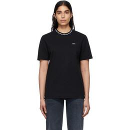 Noah Nyc Black Geometric Collar T-Shirt KN20SS20BLK