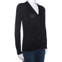 Prada Black Wool Knit Button Front Cardigan XS 275117