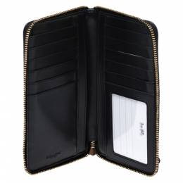 Coach Black Leather Zip Around Wallet