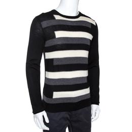 Prada Tricolor Striped Wool Crewneck Sweater L 275058