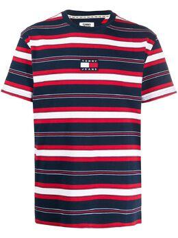 Tommy Jeans полосатая футболка с нашивкой-логотипом DM0DM07836